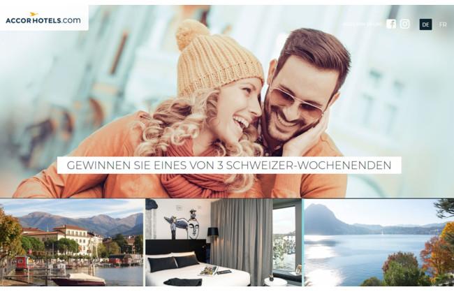 Gewinnen Sie eines von 3 Wochenenden in der Schweiz