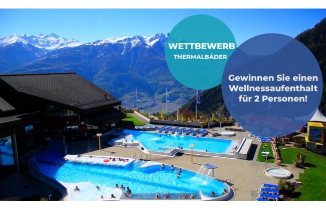 Wellnessaufenthalt für 2 Personen  im Thermalbad Bains d'Ovronnaz zu gewinnen