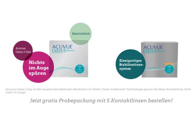 Jetzt gratis Probepackung mit 5 Kontaktlinsen bestellen!