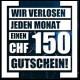 Ticketcorner - Monatlich Ticketcorner Gutschein von 150.-- gewinnen