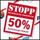 Rabatt  -  50% Auslistungs Rabatt