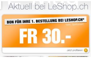 LeShop.ch-Gutschein im Wert von 30.-